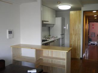 キッチンリフォーム 奥様が一番使いやすいキッチン&オンリーワンの棚