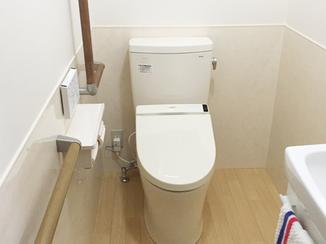 トイレリフォーム バリアフリーで安心してつかえるトイレ