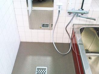 小工事 滑らず、ひんやりとしにくいお風呂の床